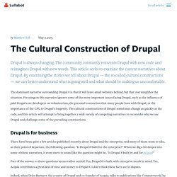 The Cultural Construction of Drupal