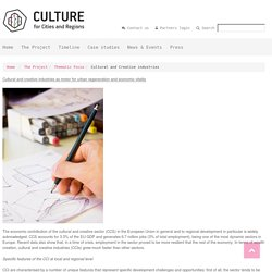 Culture for cities and regions - Cultural and Creative industries