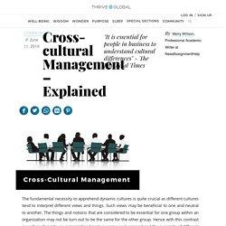 Cross-cultural Management – Explained