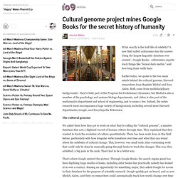 Cultural genome project mines Google Books for the secret history of humanity