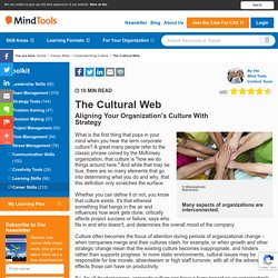 The Cultural Web - Strategy Tools from MindTools.com
