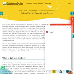 Cultural Studies Essay Writing Services UK