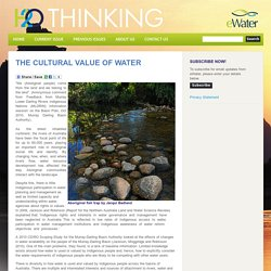 The cultural value of water