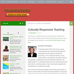 the culturally responsive pedagogy education essay Pedagogical connections between culturally responsive teaching and subjects   in this essay i examine culturally responsive teaching as characterized in my.
