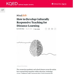 How to Develop Culturally Responsive Teaching for Distance Learning