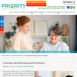 Culturally-Sensitive Approach for Seniors