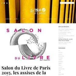 Salon du Livre de Paris 2015, les assises de la culture