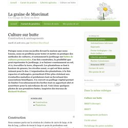 Culture sur butte - La graine de Marcimat