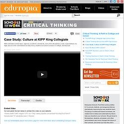 Case Study: Culture at KIPP King Collegiate