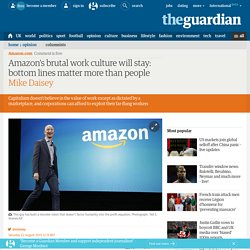 Amazon's brutal work culture will stay: bottom lines matter more than people