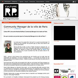Community Manager de la ville de Paris