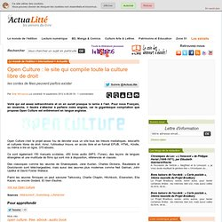 Open Culture : le site qui compile toute la culture libre de droit