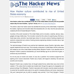How Hacker culture contributed to rise of United States economy