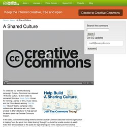 A Shared Culture - Creative Commons