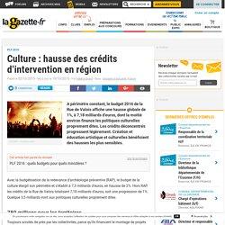 Culture : hausse des crédits d'intervention en région