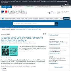 Culture -Musées de la Ville de Paris: découvrir les collections en ligne
