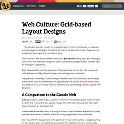 Web Culture: Grid-based Layout Designs