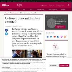 Culture : deux milliards et ensuite ?