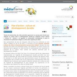 Plan d'action : culture et développement durable