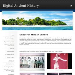 Gender in Minoan Culture - Digital Ancient History