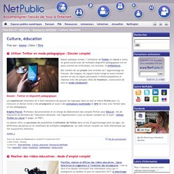 netPublic : Culture, éducation