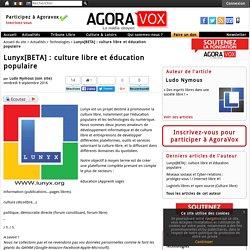 Lunyx[BETA] : culture libre et éducation populaire
