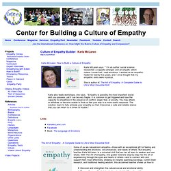 Culture of Empathy Builder: Karla McLaren