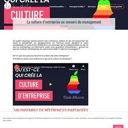 Vidéo - La culture d'entreprise