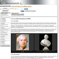 Le culture française au XVIIIè [L'art en France au XVIIIè siècle->Histoire et culture]