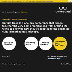 Culture Geek – Digital Arts Marketing