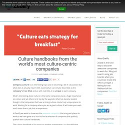 Culture handbooks from the world's most culture-centric companies