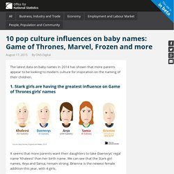 10 pop culture influences on baby names: Game of Thrones, Marvel, Frozen and more