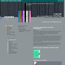 Culture de l'information 2012