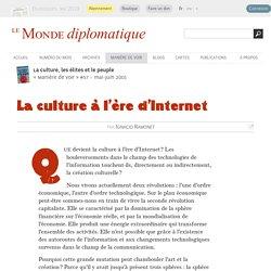 La culture à l'ère d'Internet, par Ignacio Ramonet (Le Monde diplomatique, mai 2001)