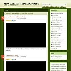 MON JARDIN HYDROPONIQUE