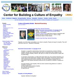 Culture of Empathy Builder: Marshall Rosenberg