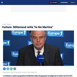 "Culture: Mitterrand raille ""la fée Martine"""