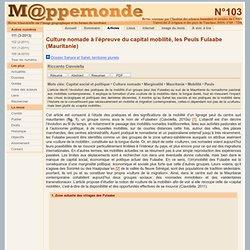 Culture nomade à l'épreuve du capital mobilité, les Peuls Fulaabe (Mauritanie)