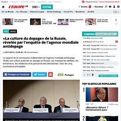 Dopage - «La culture du dopage» de la Russie, révelée par l'enquête de l'agence mondiale antidopage