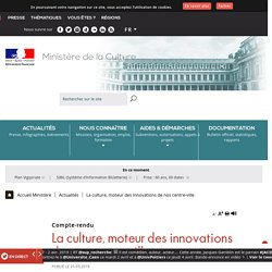 La culture, moteur des innovations de nos centre-ville