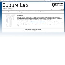 Culture Lab :: Newcastle University