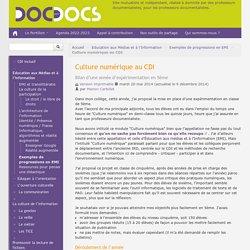 Culture numérique au CDI - Doc pour docs