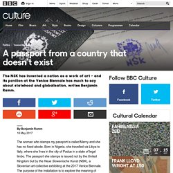 Culture - A passport from a country that doesn't exist