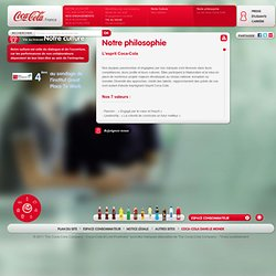 Culture, philosophie, valeurs Coca