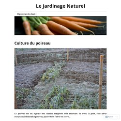 Culture du poireau – Le Jardinage Naturel