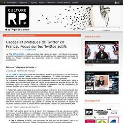 Usages et pratiques de Twitter en France: Focus sur les Twittos actifs