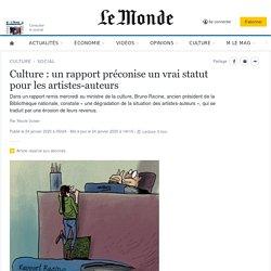 Culture : un rapport préconise un vrai statut pour les artistes-auteurs
