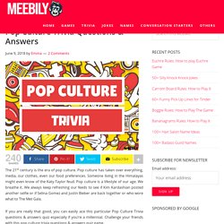 Pop Culture Trivia Questions & Answers - Meebily