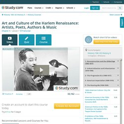 Art and Culture of the Harlem Renaissance: Artists, Poets, Authors & Music