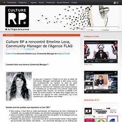 Culture RP a rencontré Emeline Leca, Community Manager de l'Agence FLAG